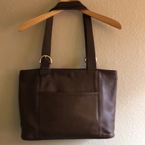 Coach Leather Shoulder Tote Bag